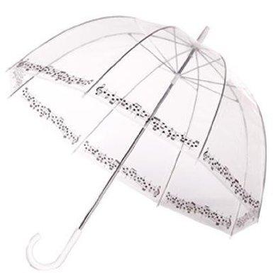 Clear Printed Bubble Umbrella - Symphony