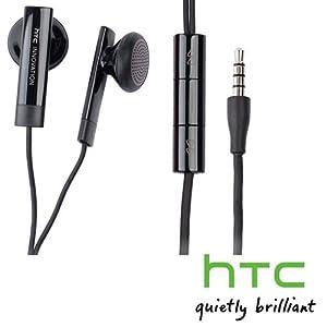 Original HTC Stereo Headset RC-E160 schwarz passend für HTC Mozart, Trophy, ChaCha, Desire, Desire HD, Desire S, Desire Z, Evo3D, Explorer pico, Flayer, HD7, HD mini, Incredible S, Legend, Google Nexus One, Omega, Rhyme, Bliss, Salsa, Sensation, Pyramid,