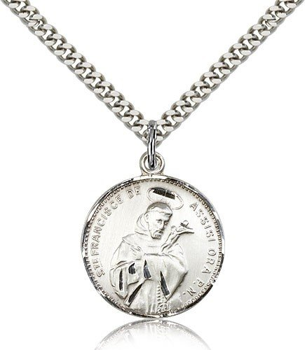 St. Francis of Assisi Medal, Sterling Silver