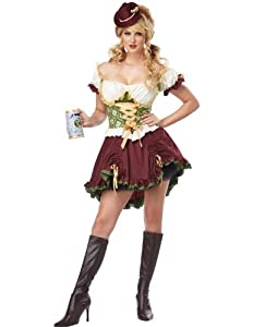 California Costumes Women's Eye Candy - Beer Garden Girl Adult, Burgundy/Green, X-Large