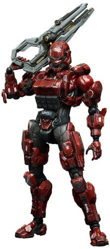 Square-Enix Halo 4 Spartan Solider Play Arts Kai Action Figure, Red by Square Enix