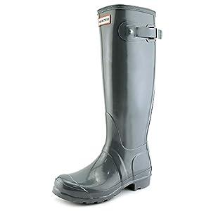 Hunter Womens Original Gloss Graphite Rain Boot - 7