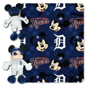 Mlb Detroit Tigers 40X50-Inch Throw With 14-Inch Hugger front-102579