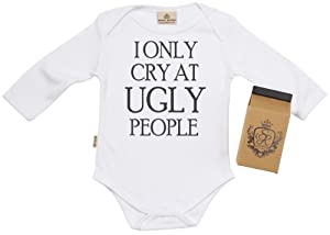 SR ly Cry At UGLY People Babygrow Organic in Milk