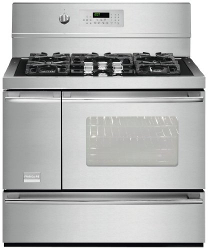 "Frigidaire Fpdf4085Kf 40"" Freestanding Dual Fuel Range With True Convection And Pro-Select Controls, Stainless Steel"