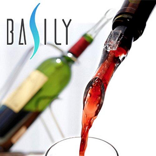 【全米No.1】デキャンティング ポアラー ワインエアレーター Basily ベイジリー 空気を含ませワインの風味を高めるタイプ