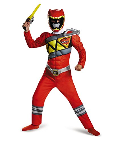 Big Boys' Red Power Ranger Dino Charge Muscle Costume Halloween Rangers