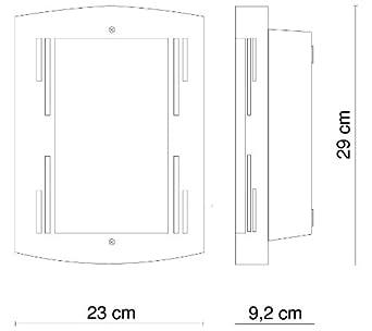 Klassische 7 Watt Außenlampe Wandleuchte Höhe 34 cm Veranda Balkon Garage Haus