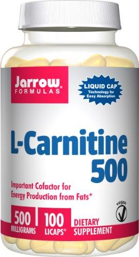 Jarrow Formulas L-Carnitine 500 Mg, 100 Capsules