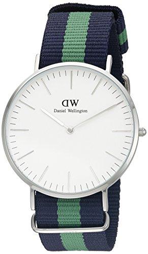 Daniel Wellington 0205DW - Reloj para hombre con correa de nylon, color blanco / gris