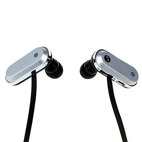 Towallmark(Tm)Fashion Clip-On Sport Bluetooth Headset Stereo For Iphone Samsung (Silver+Black)