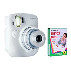 Fujifilm Instax Mini 25 Kit and One Fujifilm Instax Mini Film with 10 Exposures FU64-INM25WK10