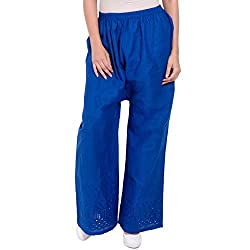 Diva Boutique Women's Palazoo (bc-17_Blue_Large)