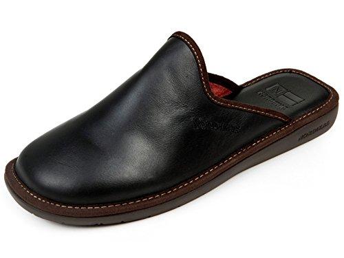 Pantofole da uomo Nordika (44, pelle nero)