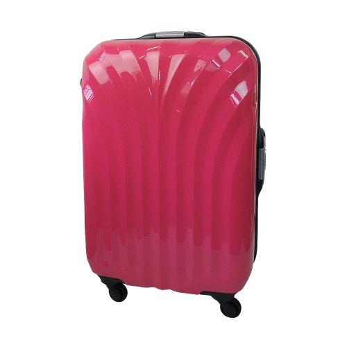 【 President 】スーツケース 超軽量樹脂フレーム TSAロック搭載 【シェルドPタイプ】3年保証 6COLOR 2サイズ【大型、中型】 (大型 Lサイズ 90リットル, ピンク)