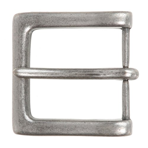 "1 1/2"" (38 mm) Nickel Free Single Prong Square Belt Buckle Color: Antique Silver"