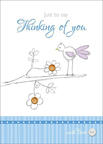 just-to-say-thinking-of-you-tarjetas-de-felicitacion-x6-unidades