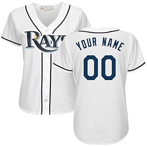 Generic Tampa Bay Rays Personalized White Jerseys Kevin Kiermaier #39 Woman Size 2XL