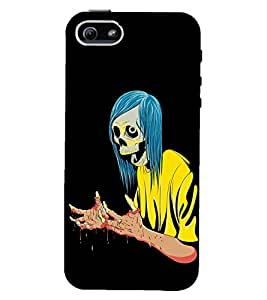 TOUCHNER (TN) Lady Skull Back Case Cover for Apple iPhone 5::Apple iPhone 5S