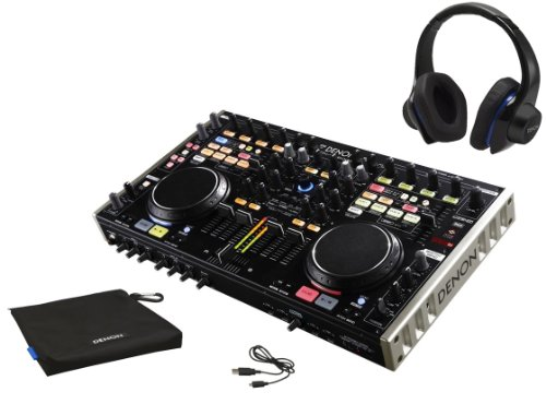 Denon Dj Dn-Mc6000 4-Channel Dj Mixer And Controller Bundle With Denon Urban Raver High Performance On-Ear Headphones