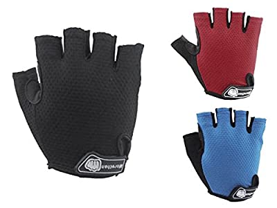 EGOODBEST Unisex Cycling Half Finger Sports Gloves for Riding Mountain Bike M L XL