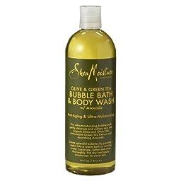 SheaMoisture Olive & Green Tea Bubble Bath & Body Wash - 16 fl oz