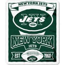Nfl Officially Licensed Marquee Fleece Throw Blanket (New York Jets) front-486396