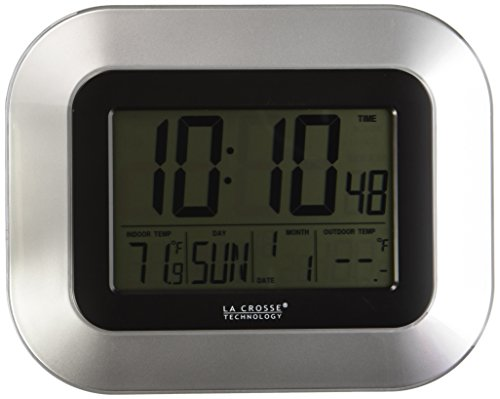 La Crosse Technology WS-8115U-S Digital Wall Clock with Indoor and Outdoor Temperature (One Direction Number Clock compare prices)