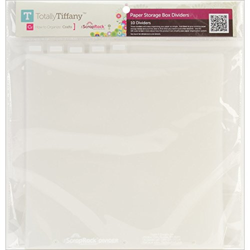 Best Buy! Totally-Tiffany SA06 ScrapRack Paper Storage Box Tabbed Divider, 12.5 by 12.5-Inch, 10-Pac...