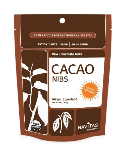 Navitas Naturals Organic Raw Chocolate Nibs,  King of Cacao 16 Ounce Pouch (Pack of 2)