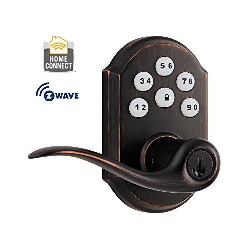 kwikset-912-smartcoder-electronic-w-tustin-lever-featuring-smartkeyr-and-z-wave-in-venetian-bronze
