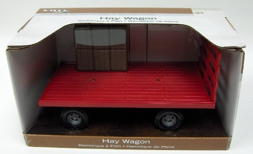 1:16 Red Hay Wagon