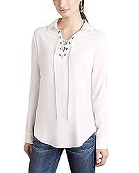 Lurap Women's White Laure Crepe Top - Regular & Plus Size