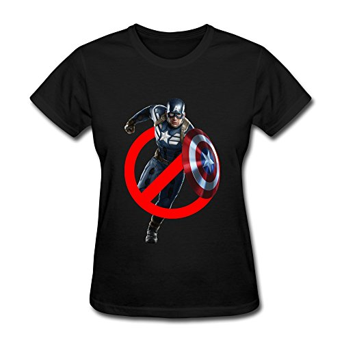 AOPO Ghostbuster Captain America T Shirts For Women