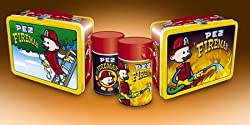 Pez Firefighter Metal Lunchbox and Thermos