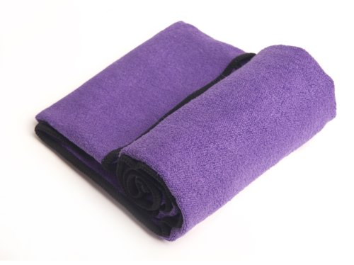 YogaRat Hand Purple Black 100% Microfiber Yoga Towels (15