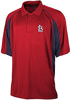 St Louis Cardinals MLB Majestic Men's Birdseye Red Polo Shirt Big And Tall Sizes