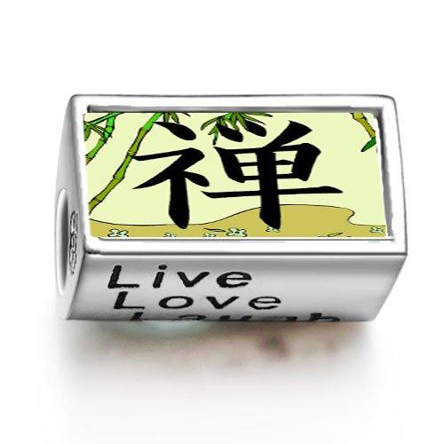 SoufeelonlineFashion Religion Buddhism Chan Words Live Love Laugh Bead Charm Fit Pandora Chamilia Biagi beads Charms Bracelet
