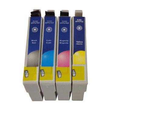 4 kompatible Druckerpatronen ersetzen Epson T0711, T0712, T0713, T0714, geeignet für Epson D78 / D92 / D120/ DX4000 / DX4050 / DX4400 / DX4450 / DX5000 / DX5050 / DX6000 / DX6050 / DX7000F / DX7400 / DX7450 / DX8400 / DX8450/ DX9200/ DX9400F / S20 / S21 / SX100 /SX110 / SX200 / SX205 /SX218 / SX400 / SX400WiFi / SX405WiFi / SX410 / SX510 /SX510W / SX515 / SX515W SX600FW /SX610FW / Office B40W / Office BX300F / Office BX310 / Office BX310FN / Office BX600FW / Office BX610FW