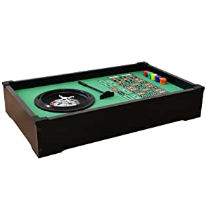 Relaxdays gmbh roulette table set game deluxe table top toys am - Table tv a roulettes ...