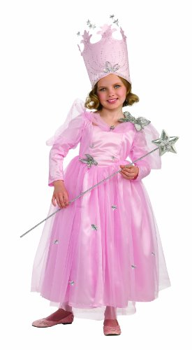 Wizard Of Oz, Super Deluxe Glinda Dress And Crown Costume