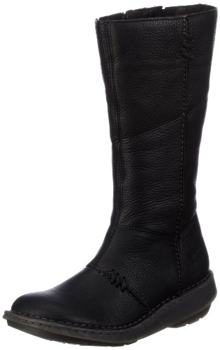 Dr. Martens Women's 10492003 New authentic wedge high leg boot Black 4 UK