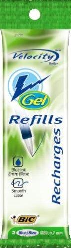 BIC-recharge pour stylo à encre Gel Velocity Gel, bleu, 24 feutres