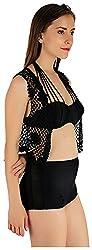 Holidae Women's Crochet Shrug, Black
