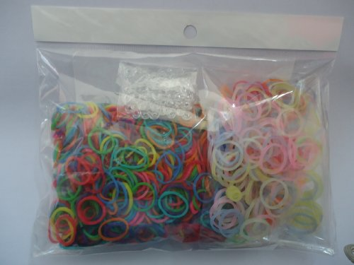 1200 Loom Bands Value Pack Refill - Loomy Loom 1200 Silicone Rubber Bands REFILL VARIETY PACK Including 200 Glow in the Dark Loom Bands and 50 Clips - Works with all Rainbow Loom Bands Kit - 100% Silicone, Latex & Lead Free - 100% SAFE FOR KIDS! - 100% SA