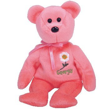 TY Beanie Baby - GEORGIA CHEROKEE ROSE the Bear (Show Exclusive) - 1