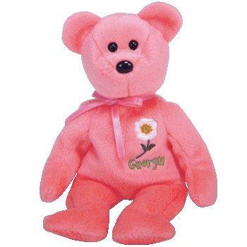 TY Beanie Baby - GEORGIA CHEROKEE ROSE the Bear (Show Exclusive) - 1