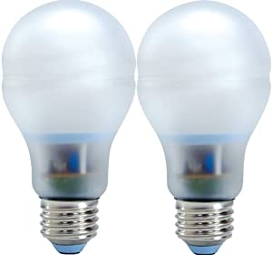 GE Lighting 63511 Reveal Bright from the Start CFL 20-Watt (75-watt replacement) 1050-Lumen A21 Light Bulb with Medium Base, 2-Pack