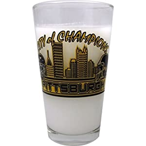 Pittsburgh Mixing Glass City Of Champions from Gift House