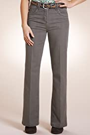 Per Una Roma Cotton Rich Bootcut Trousers with Belt [T62-4420I-S]